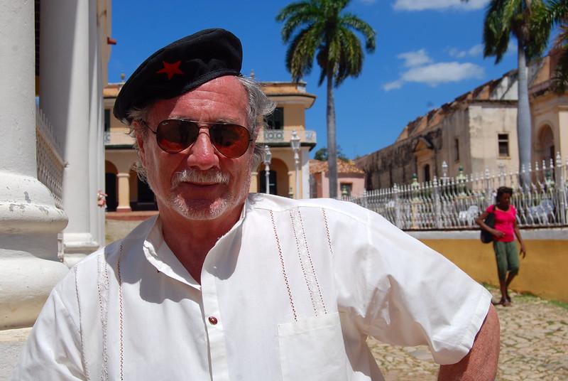 Bert modeling his beret - Lou TUcciarone