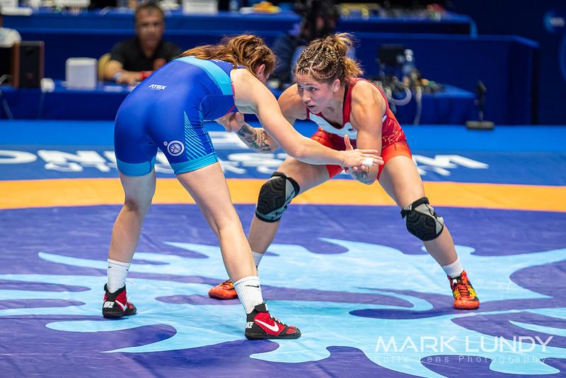 Champ. Round 1: Jenna Rose Burkert (United States) over Lenka Hockova Martinakova (CZECHIA)  •  Dec 8-0 - 2019 World Championships