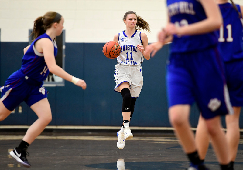 2/9/2019 Mike Orazzi | Staff Bristol Eastern's Ciara Collins (11)  during Saturday's girls basketball game in Bristol.