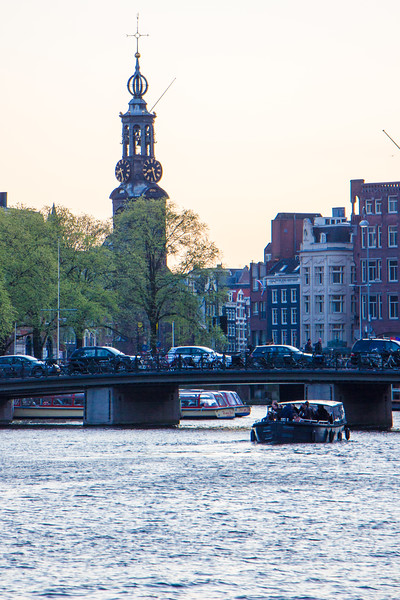 The Amstel River and the Munttoren