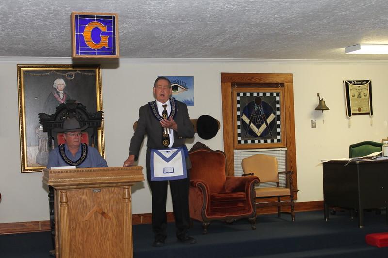 W:B: Bill Lang addresses the Bring A Friend guests.