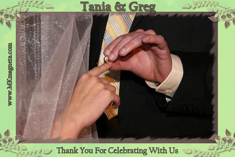 wedding magnet frame -green brown romance2.jpg