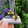 Vintage Bee Conversion Earrings 21