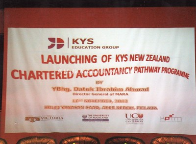 2013 - LAUNCHING OF KYS NEW ZEALAND CHARTERED ACCOUNTANCY PATHWAY PROGRAMME