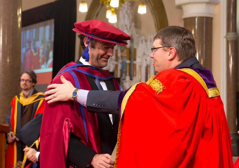 Waterford Institute Of Technology Conferring. Pictured at WIT Waterford Institute Of Technology Conferring is Frank Walsh, Waterford, who was conferred a Doctor of Philosophy by Dr. Ruaidhrí Neavyn, President WIT. Picture: Patrick Browne