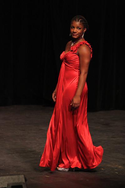 Tyniesha Lee in her evening gown