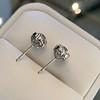 1.70ctw Old European Cut Diamond Clover Stud Earrings, GIA H-I SI 50
