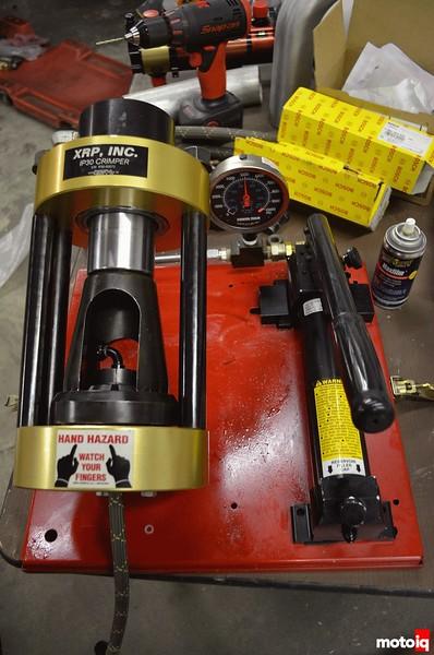 ark design team america bnr32 part 9 xrp hose crimper