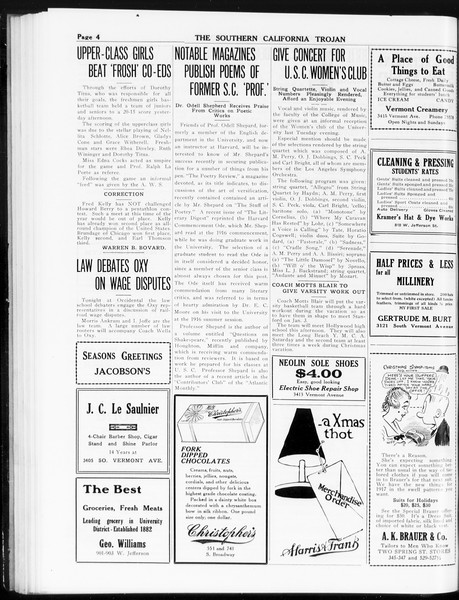 The Southern California Trojan, Vol. 8, No. 47, December 14, 1916