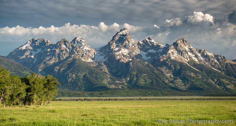 After 40 years, seven living in the Tetons, I took my first picture of them. One I fixated on anyway. I visualized the spot, scouted the day before, slept nearby, and got there at sunrise before taking the snap. Rewarded with clouds and rich light.