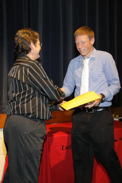 Awards Night 2012 - Student of the Year: Algebra 2