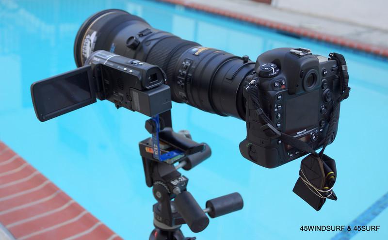 Nikon D4 with AF-S Nikkor 600mm f/4G ED VR & Video Camera!