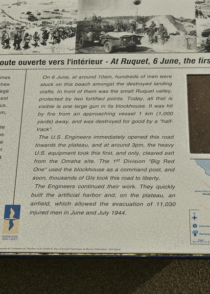 Info at Saint-Laurent-sur Mer (Omaha Beach)