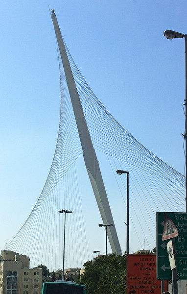 51-Chords Bridge, Calatrava. Light rail vehicles running from outlying neighborhoods to the city center will use this bridge.