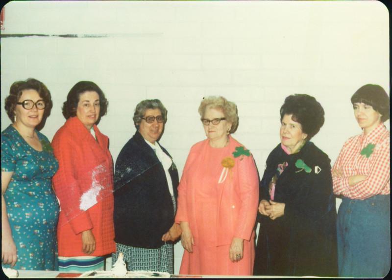 Mom, Marilyn Sutton, ?, Hazel Plothow, Thelma Meeker, Mary Ann Kitner
