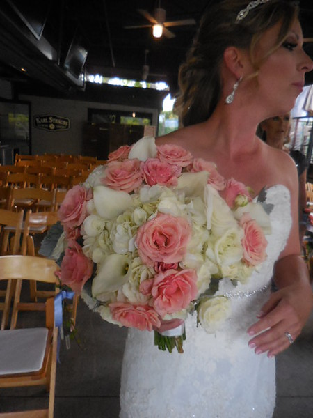 Bride with the  bouquet!