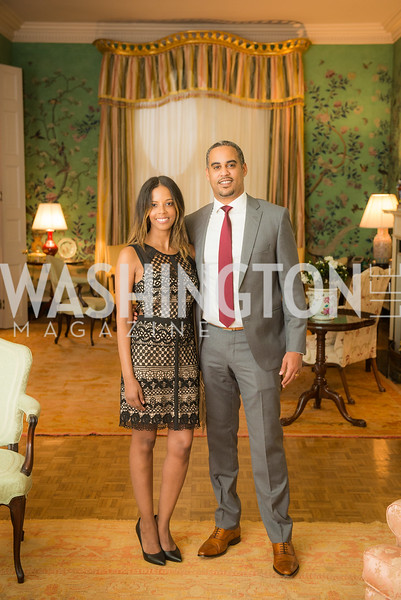 Ariana Austin Makonnen, Joel Makonnen,  50th Annual Meridian Ball Leadership Committee Reception at the Blair House, co-hosted with Ambassador Sean P. Lawler.  September 13, 2018, Photo by Ben Droz.