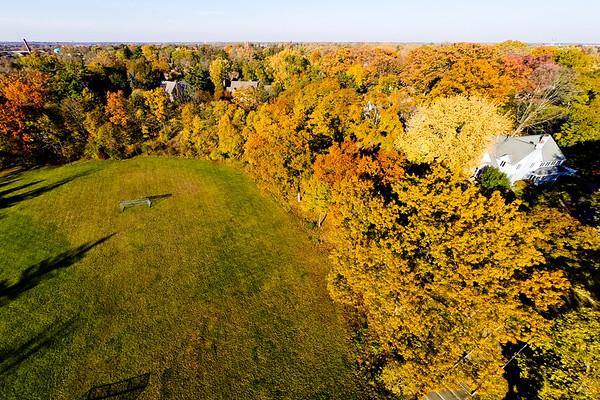 Woodlawn Park at Flint Michigan in Deep Autumn