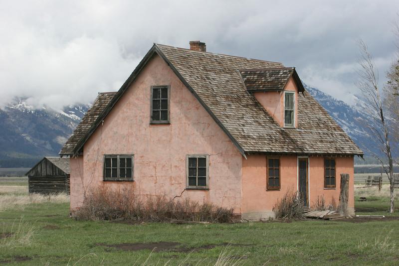 stucco house on Mormon Row