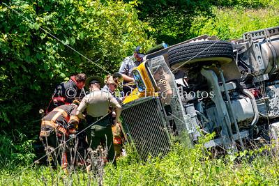 20180605 - Unincorporated Mount Juliet - Overturned Truck