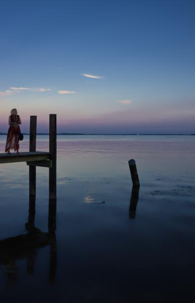 1121 - Maryland - Lady on Dock Havre De Grace (p).jpg