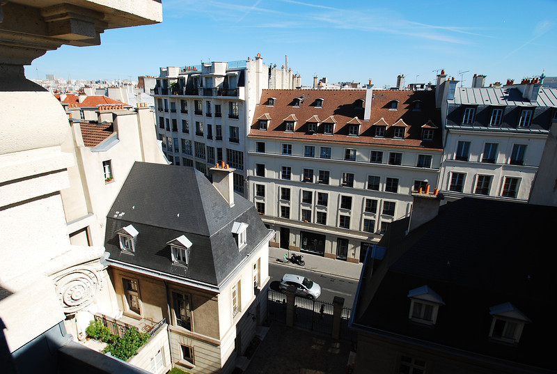 View from apartment of Rue de Turenne.