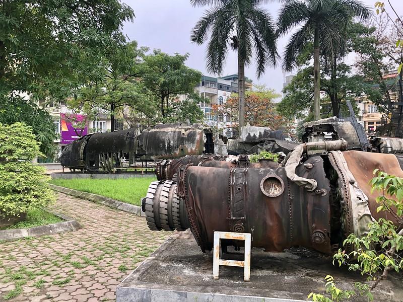 Wreckage of a US B52 - Hanoi