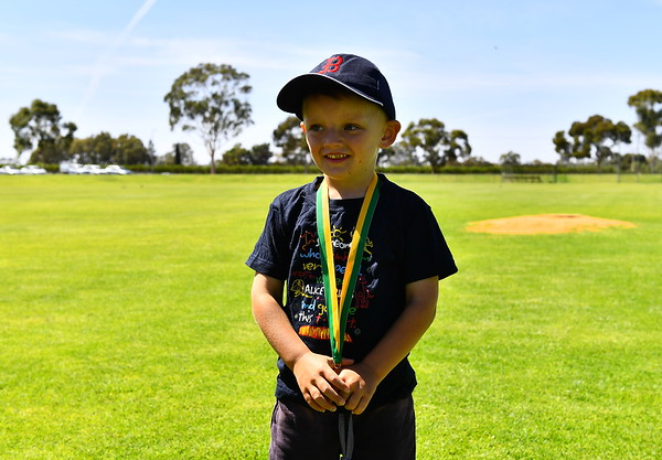 T-Ball and Coach-Pitch Wind Up Day Medal Presentation