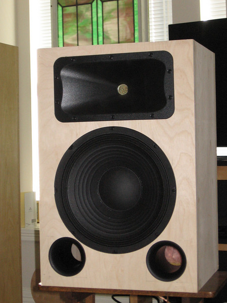 """Audio Karma Econowave speaker using the new Dayton 12"""" pro woofer. In this enclosure the Dayton woofer is one of the worst-sounding pro woofers I have heard, with a 6dB peak between 200hz and 1khz, centered at 500hz. Muddy, muddy, muddy sound! Buy an Eminence Delta 12 LFE instead."""