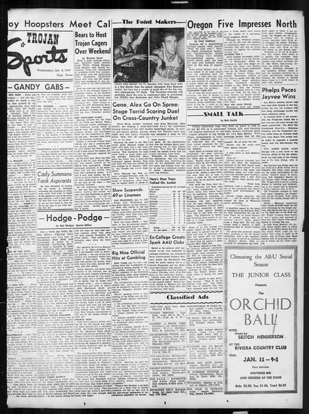 Daily Trojan, Vol. 38, No. 68, January 08, 1947