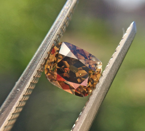 .55ct Deep Fancy Deep Orangey-Brown Antique Cushion Cut Diamond