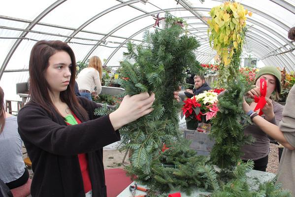 WUHS Horticulture Class Wreaths