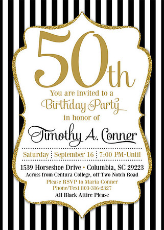 Timothy Conners 50th