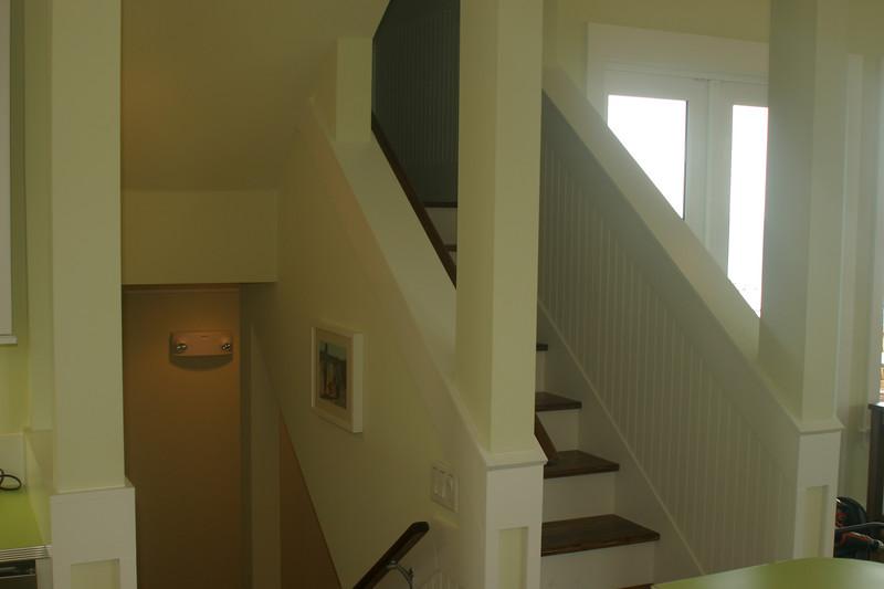 2nd floor stairs off kitchen
