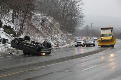 Truck Rollover, Mile Hill, SR309, Kline Township (1-28-2013)