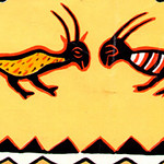 Postal pintura moral nas cubatas da lunda museu do dundo