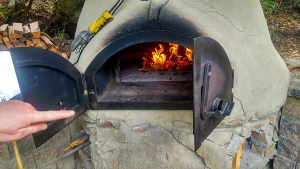 Breadmaking oven at David Morton's