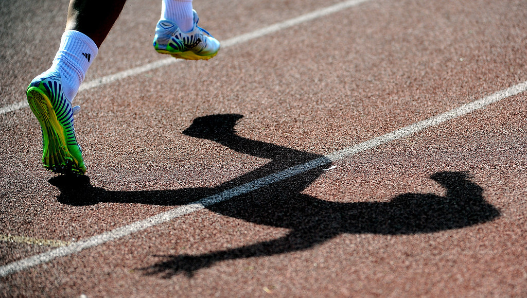 . The start of the 400 meter run during the Hacienda League track finals in Walnut, Calif., on Thursday, May 8, 2014.  (Keith Birmingham Pasadena Star-News)
