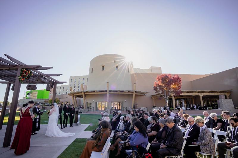 Sandia Hotel Casino New Mexico October Wedding Ceremony C&C-34.jpg