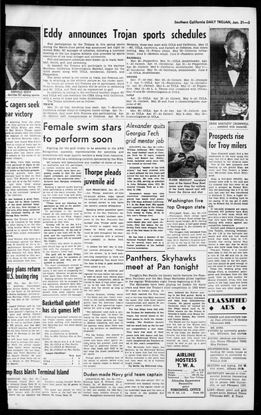 Daily Trojan, Vol. 36, No. 58, January 31, 1945