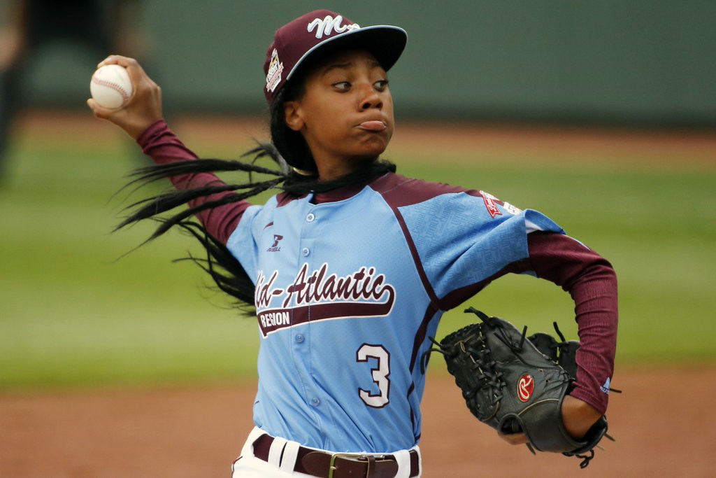 ". <p><b> Philadelphia�s hottest pitcher, Mo�ne Davis, made history when she became the first girl to do this at the Little League World Series � </b> </p><p> A. Pitch a shutout </p><p> B. Hit a home run </p><p> C. Turn down a date request from James Franco </p><p><b><a href=""http://www.people.com/article/mone-davis-little-league-philadelphia-taney-dragons\"" target=\""_blank\"">LINK</a></b> </p><p>  (AP Photo/Gene J. Puskar)</p>"