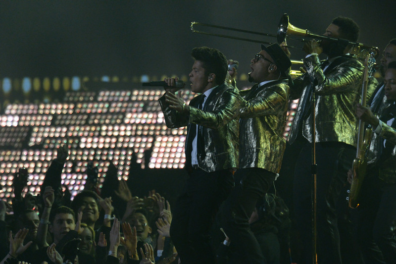 . Bruno Mars performs during the halftime show at Super Bowl XLVIII at MetLife Stadium in East Rutherford, New Jersey Sunday, February 2, 2014.  (Photo by Hyoung Chang//The Denver Post)