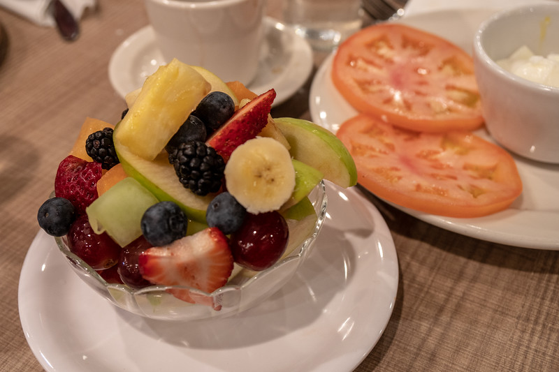 The fruit cup at Lou Mitchell's