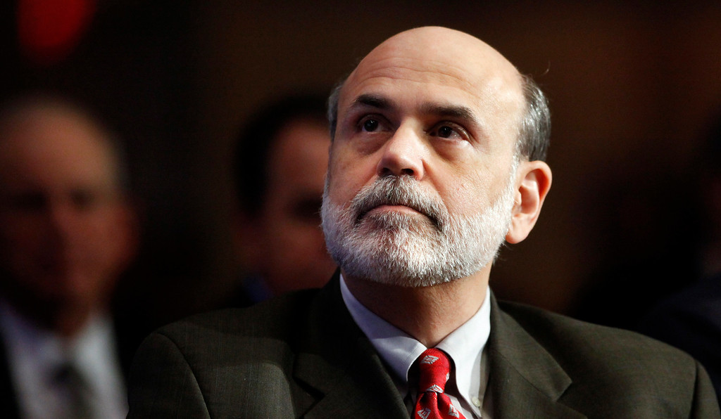 . 2009: Ben Bernanke. Federal Reserve Chairman Ben Bernanke is introduced before speaking at the The Economic Club of Washington in December 2009. (AP Photo/Haraz N. Ghanbari)