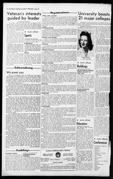 Daily Trojan, Vol. 36, No. 141, June 09, 1945
