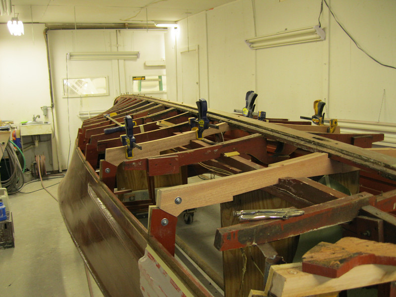 Rear starboard view of new frames.
