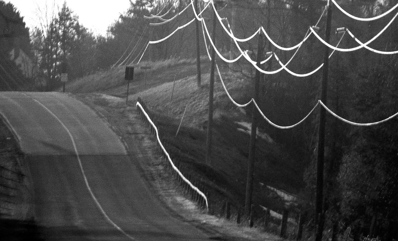Road at Sunset - North of Toronto, Ontario, Canada - 1987