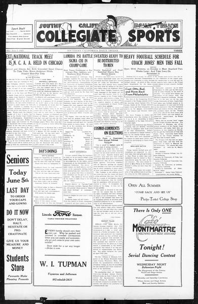 Daily Trojan, Vol. 16, No. 121, June 05, 1925