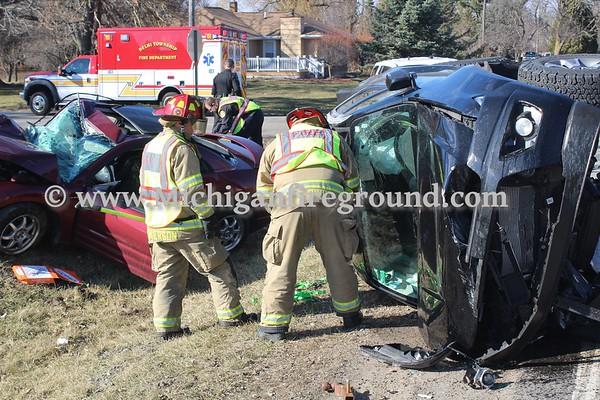 3/13/20 - Delhi Twp injury crash, Aurelius & Harper