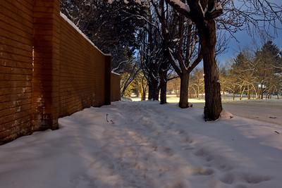 Snowy Walk To NCAR